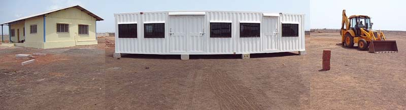 Prefab and G I Container Site Office